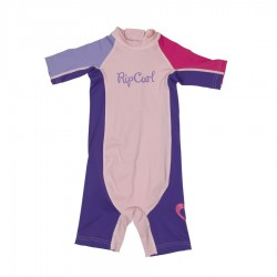 Rip Curl Lycra wetsuit Kids Option manches courtes lime