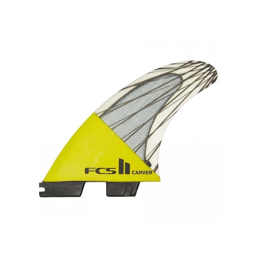 FCS II Carver Performance Core Tri Fins set yellow