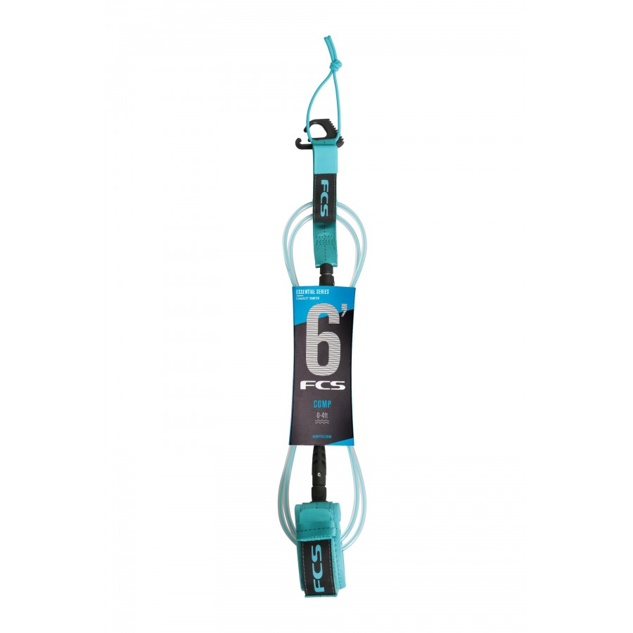 FCS 6' Comp Essential Leash blue