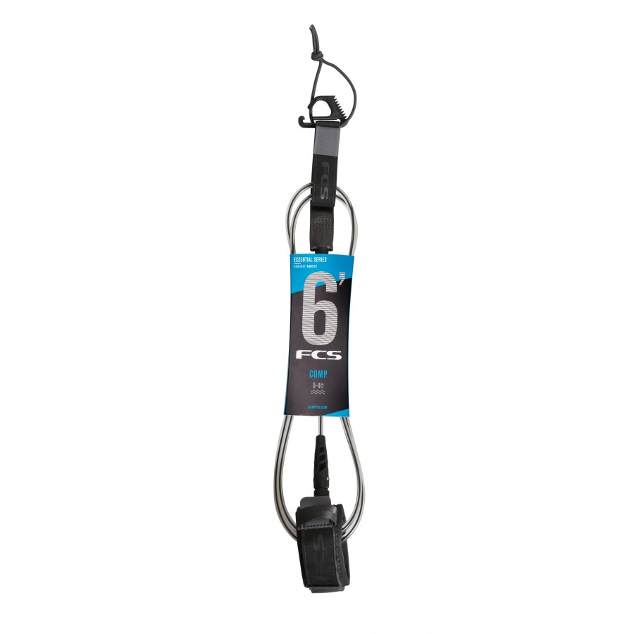 FCS 6' Comp Essential Leash coal