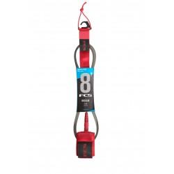 FCS 8' Reg Essential Leash red
