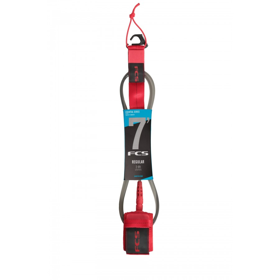 FCS 7' Reg Essential Leash red