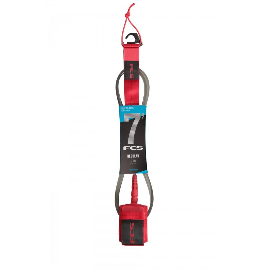 FCS 7' Reg Essential Leash red