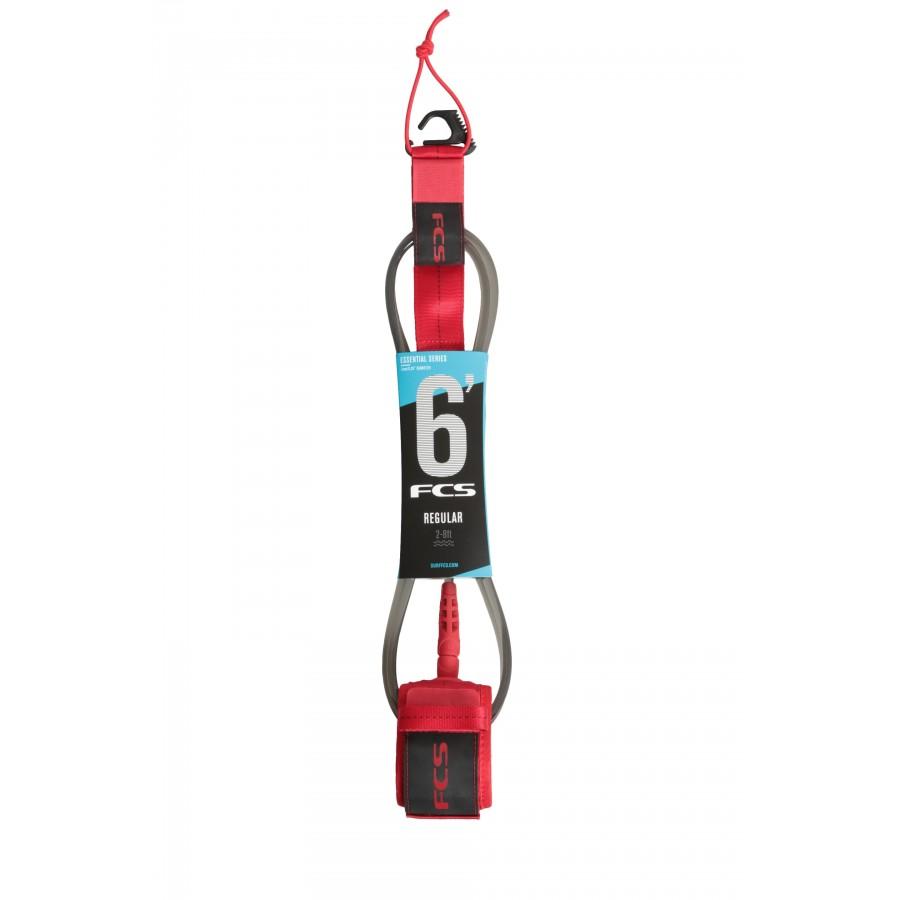 FCS 6' Reg Essential Leash red