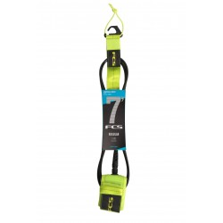 FCS 7' Reg Essential Leash fluro green