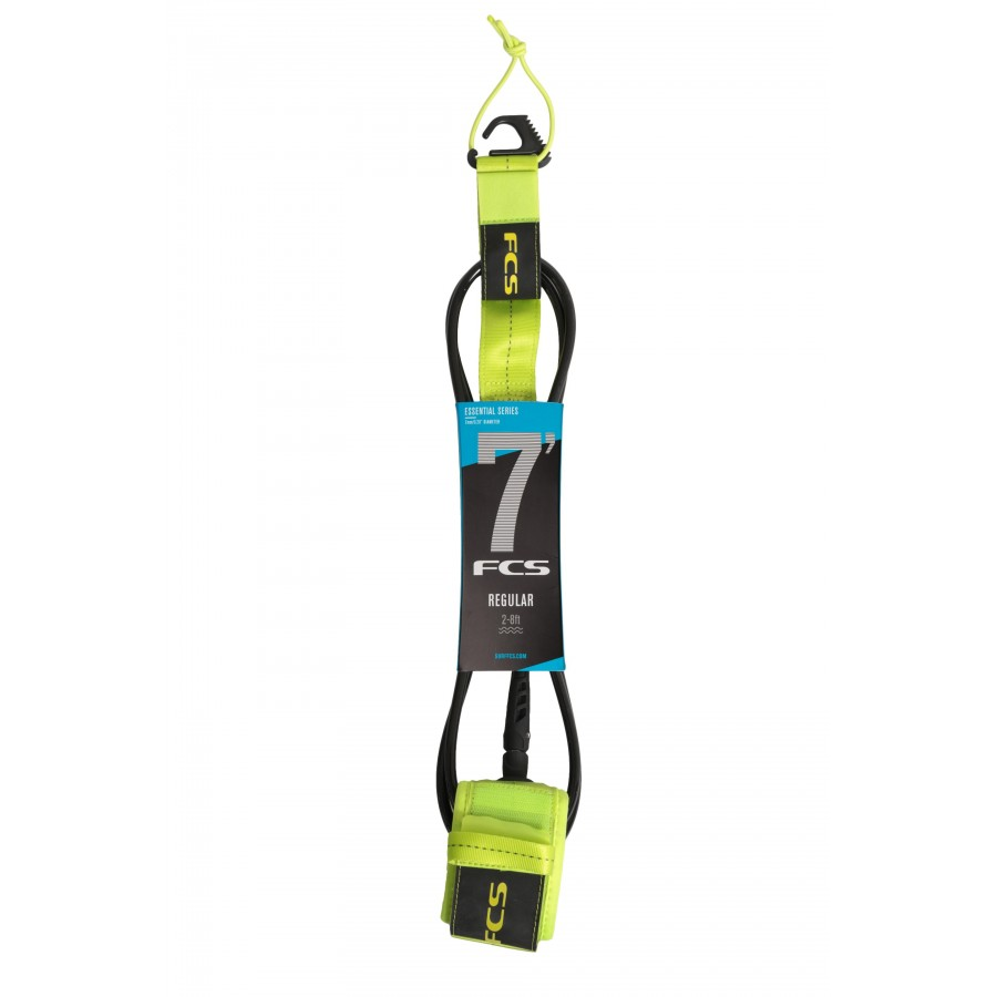 FCS 7' Reg Essential Leash fluro green