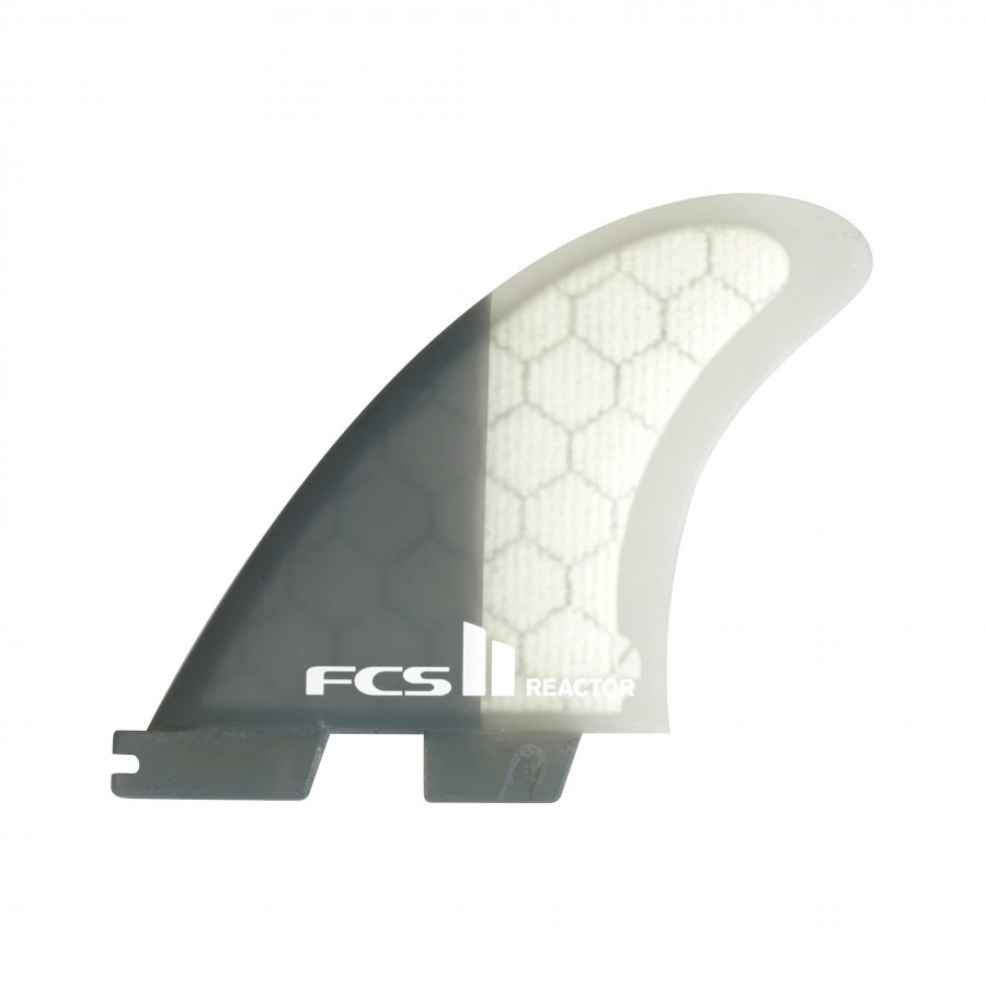 FCS II Reactor PC Tri Fins set charcoal