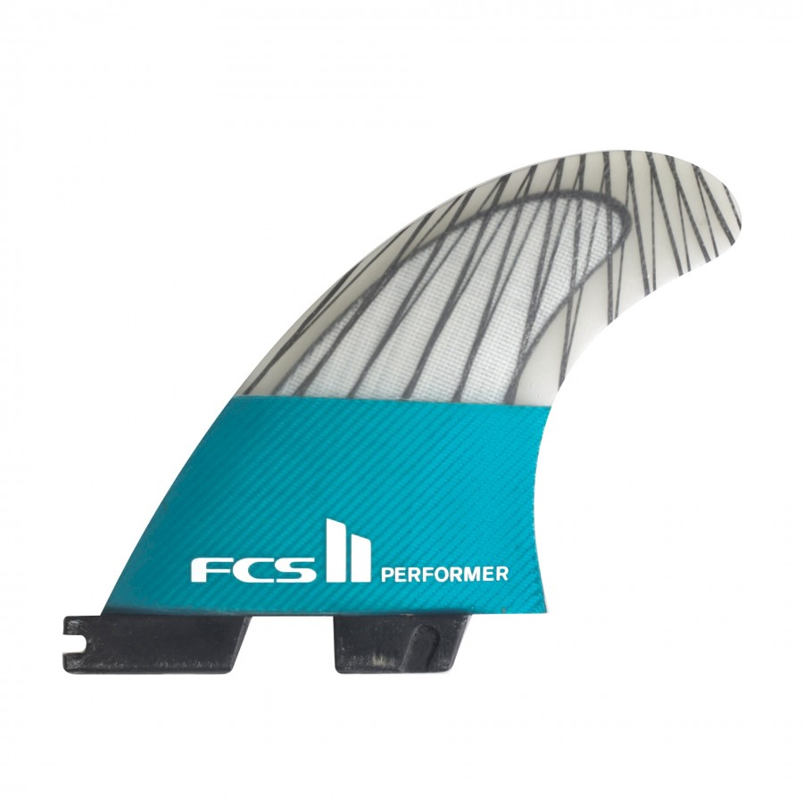FCS II Performer PC Carbon teal large Tri Fins set