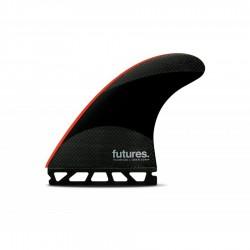 Futures Fins John John-2 Large Techflex Tri fins set black / neon red