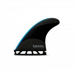 Futures Fins John John-2 Small Techflex Tri fins set black / neon blue