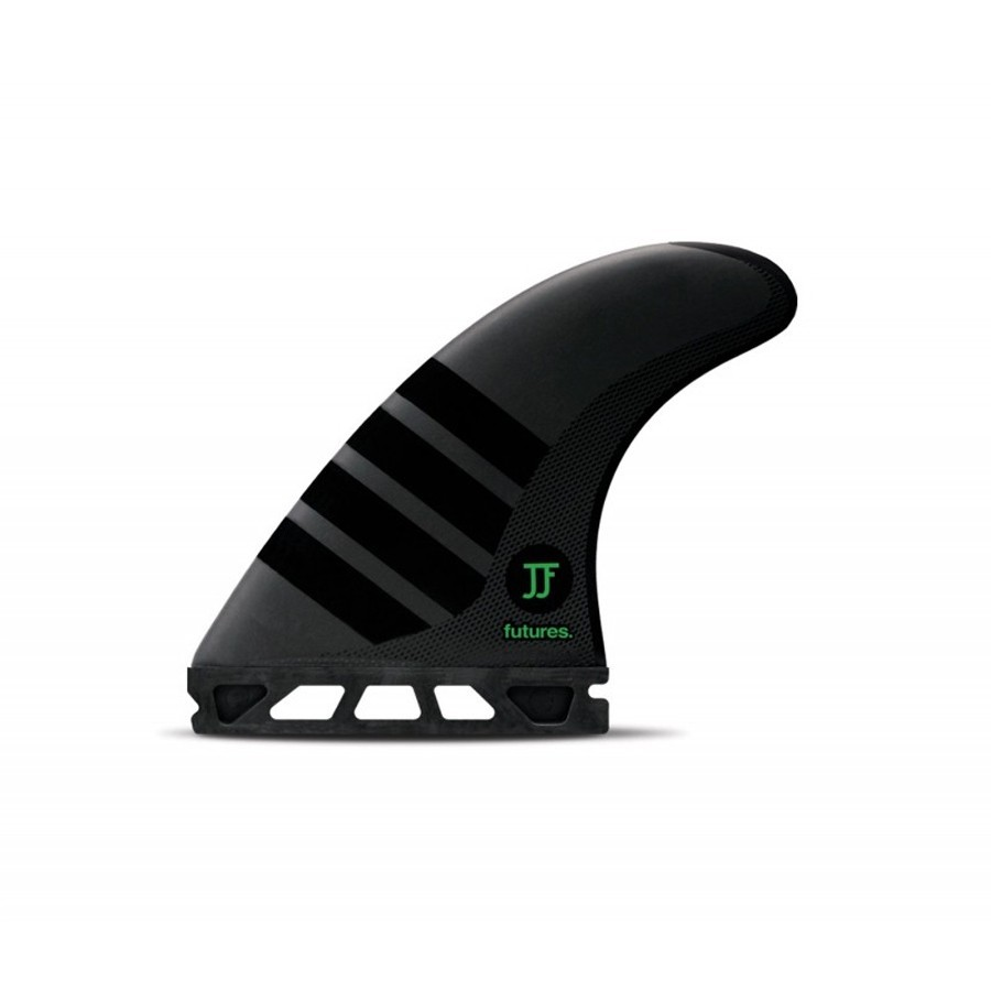 Futures Fins John John Alpha Medium Tri fins set carbon green