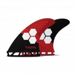 Futures Fins AM3 HC Tri fins set red black