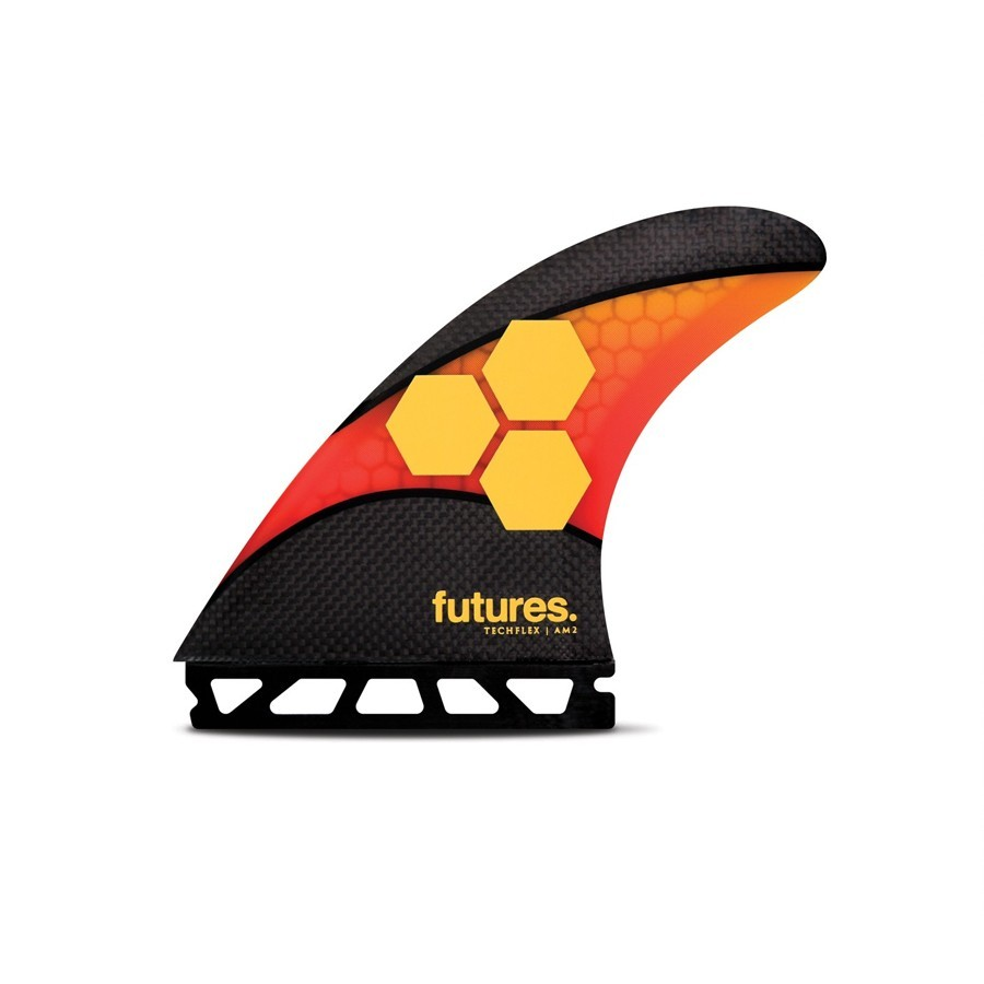 Futures Fins AM2 Techflex Tri fins set orange red