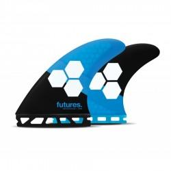 Futures Fins AM1 Honeycomb mediumTri fins set blue black