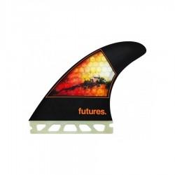 Futures Fins Jordy Smith Honeycomb medium Tri fins set black orange