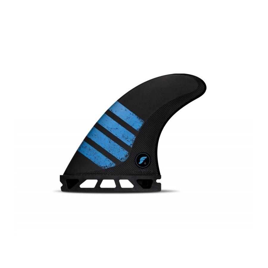 Futures Fins F6 Alpha medium Tri fins set carbon blue