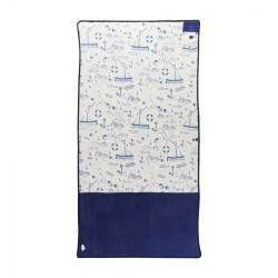 All In  Beach Towel marin print navy