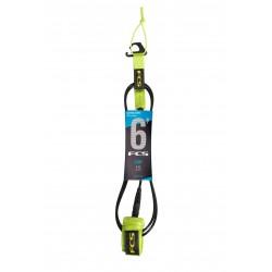 FCS 6' Comp Essential Leash Fluro Green