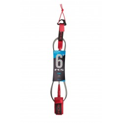 FCS 6' Comp Essential Leash red