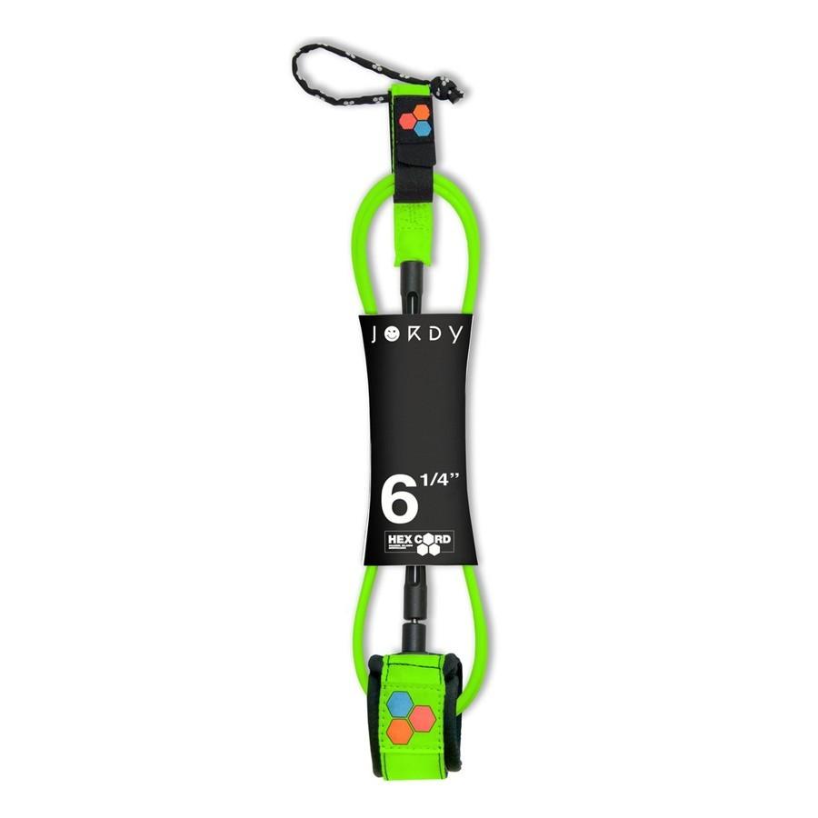 Channel Island leash 6'0 Jodry Smith fluoro green