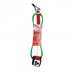 Channel Island leash 6'0 Bobby Martinez comp red white